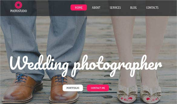 Free Premium Photography Website Themes Templates Free - Free html photography website templates