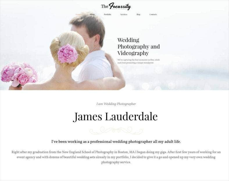 wedding photography and videography website template 788x622