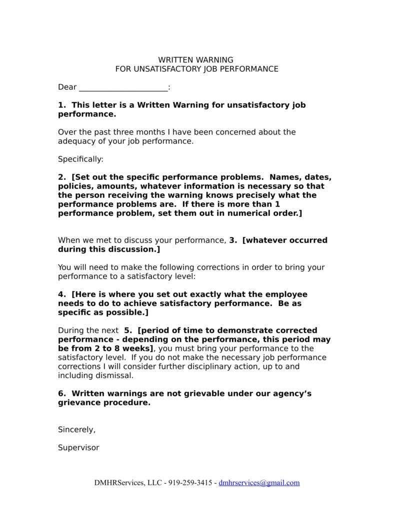 work performance warning letter template 11 788x1020