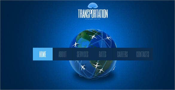 world transportation website template
