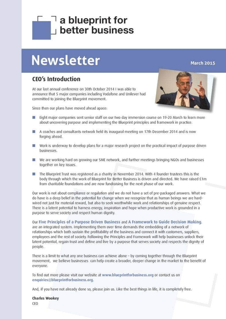 newsletter template download