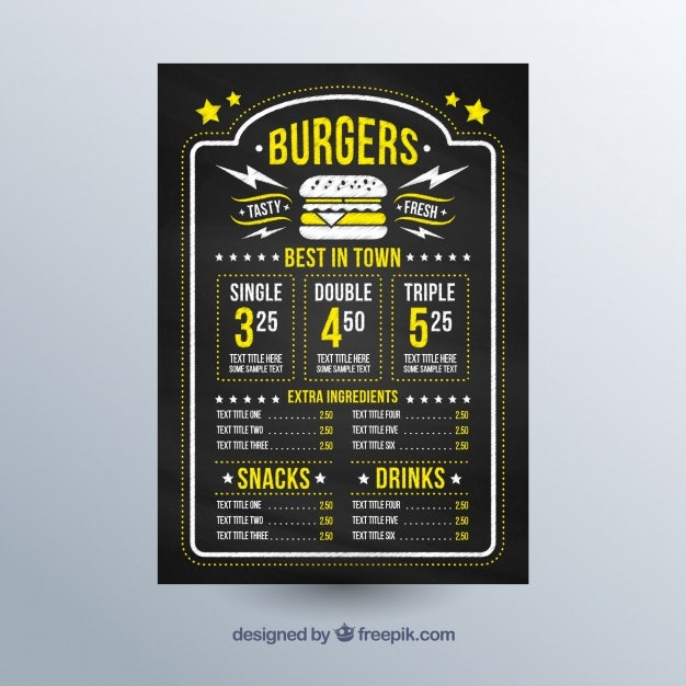 chalkboard-with-menu-template-and-yellow-details_23-2147629708