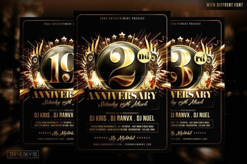 24 Anniversary Invitation Designs Amp Templates Psd Ai