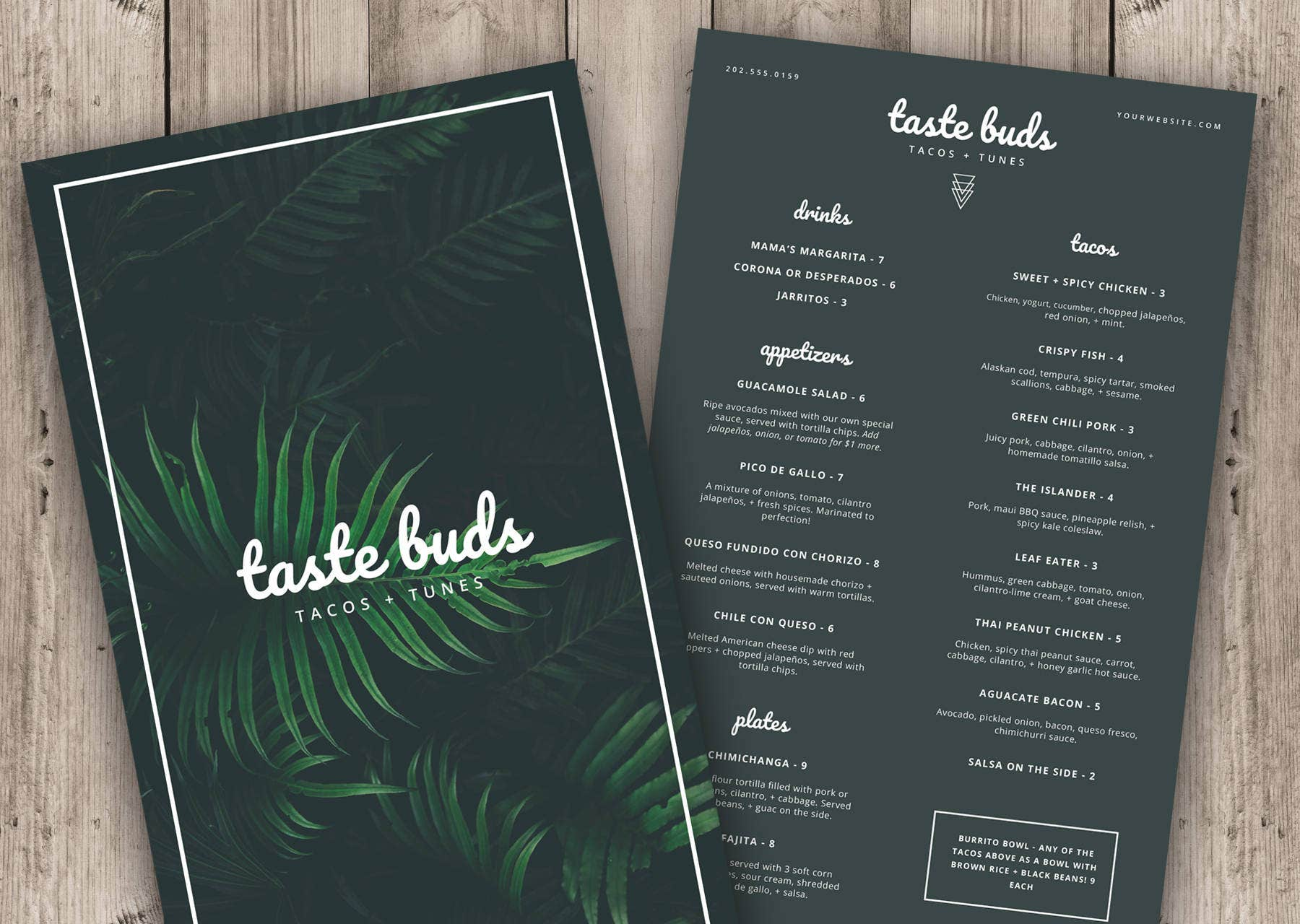 32  bar menu designs