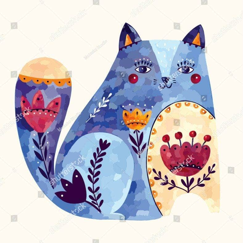 decorative cat 788x786