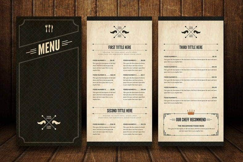 Bar menu designs free premium templates