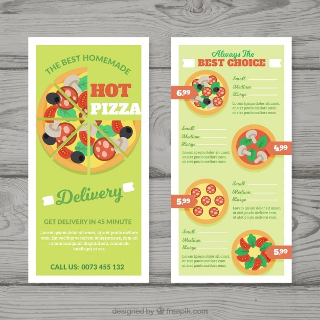 13 pizza menu templates free premium templates. Black Bedroom Furniture Sets. Home Design Ideas