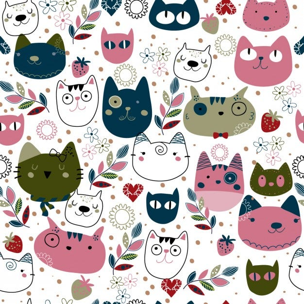 pattern-with-cute-cat-heads_1042-262