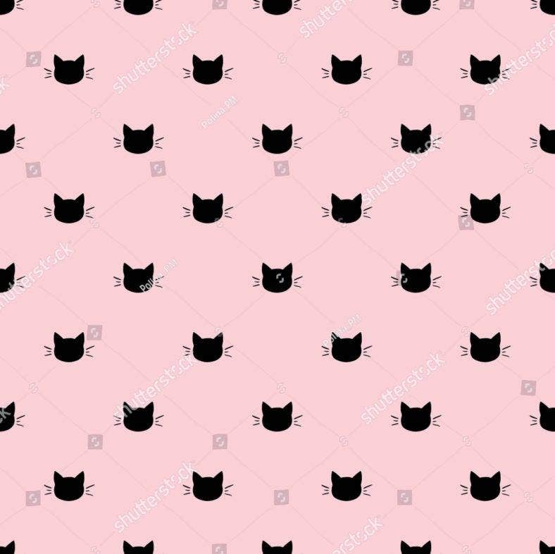 pink cat background 788x786