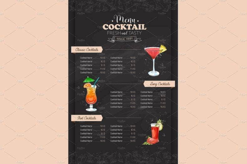 pink-menu-cocktail