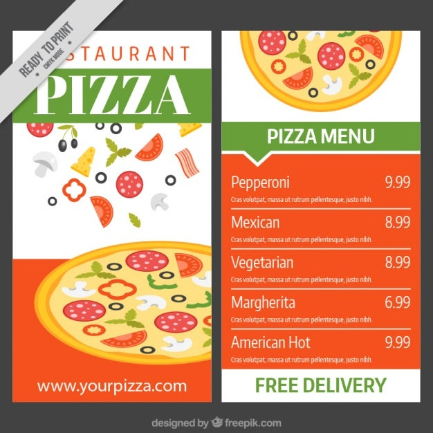 pizza menu template 13  Pizza Menu Templates | Free