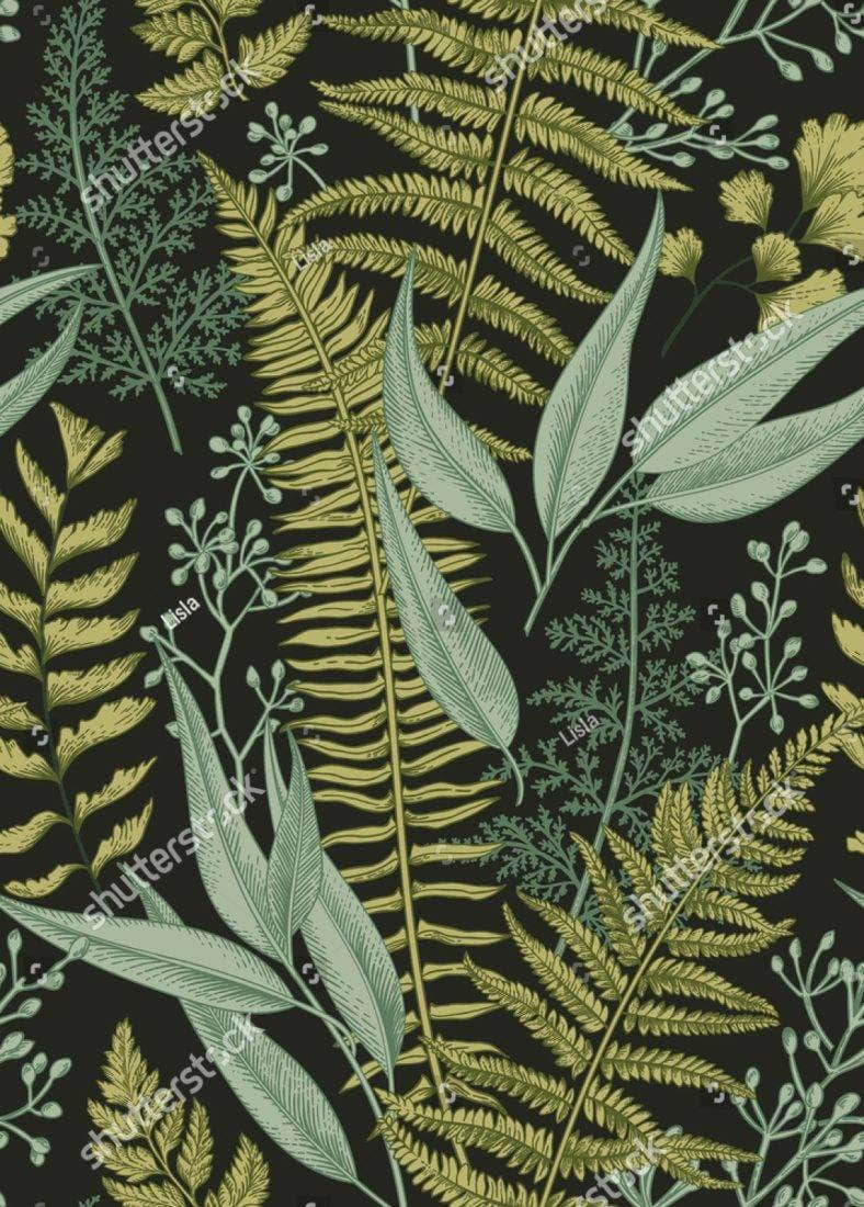 seamless vintage tropical leaves 788x1100