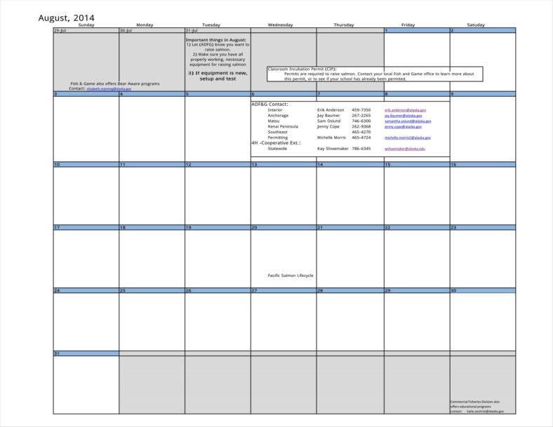 9+ Classroom Calendar Templates Free Samples, Examples Formats