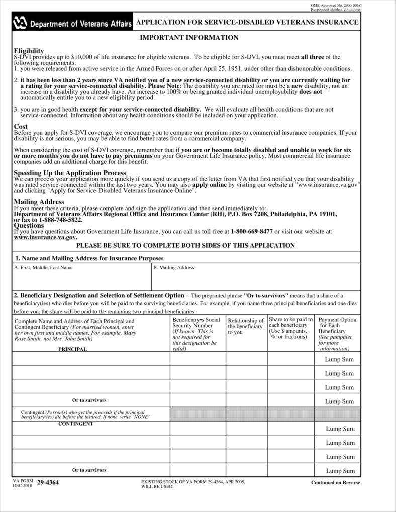 9 insurance application form templates free pdf format download insurance application form example xflitez Image collections