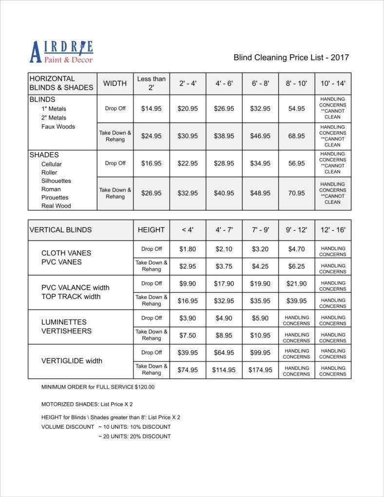 photograph about Free Printable Cleaning Estimate Forms named 8+ Cleansing Cost Record Templates - Free of charge Term, PDF, Excel