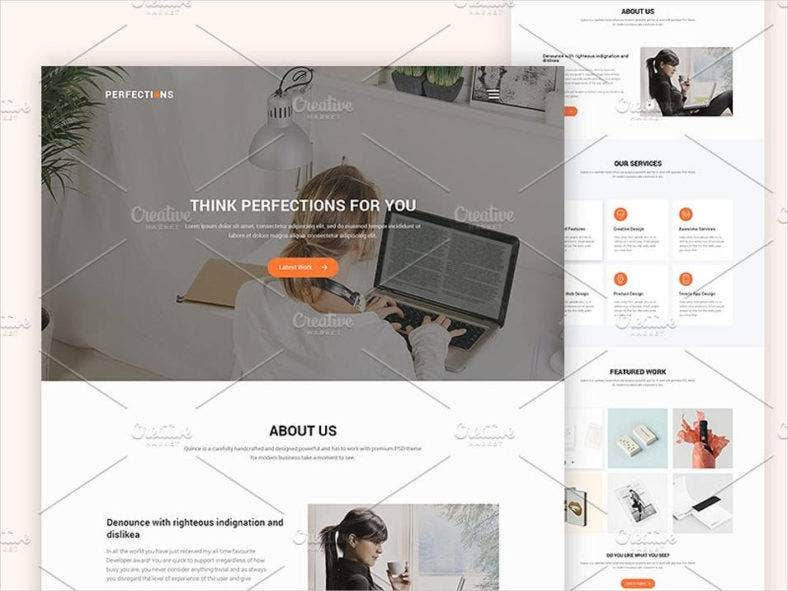 agency website design template 788x591