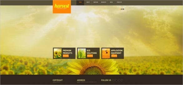agriculture full screen website template
