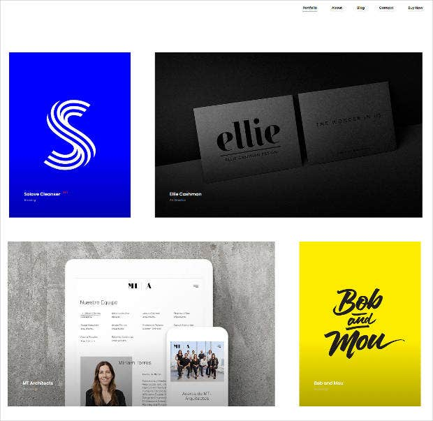 ajax based portfolio template