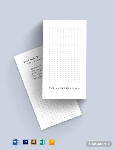 artistic business card template