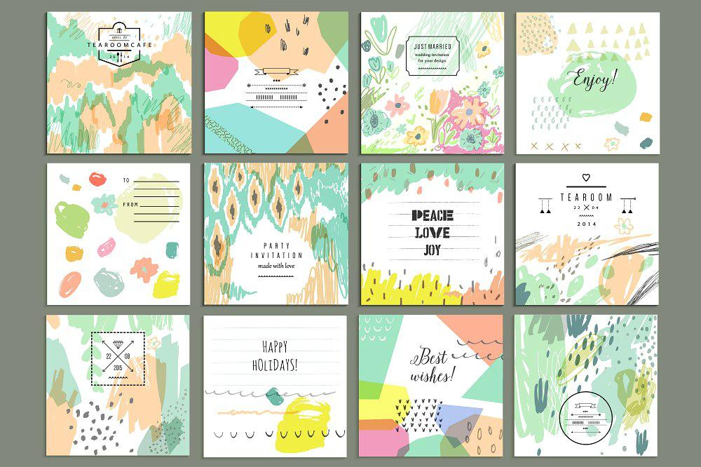 artistic card design collection