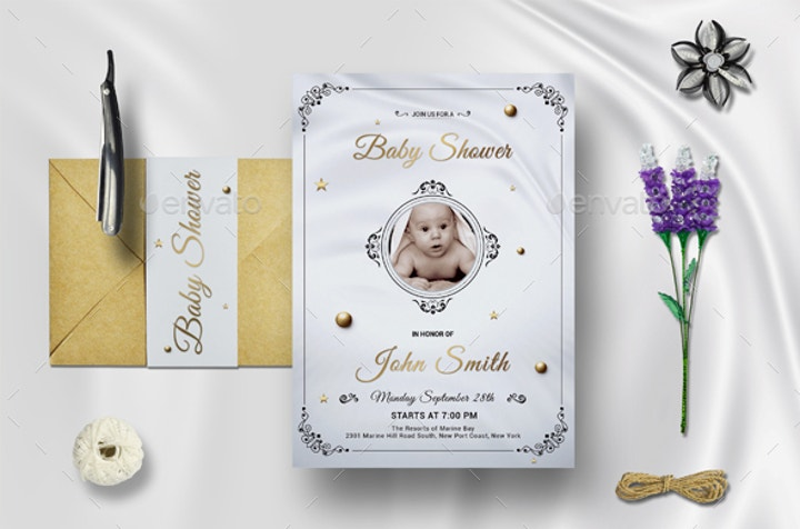 Baby Shower Announcement Invitation