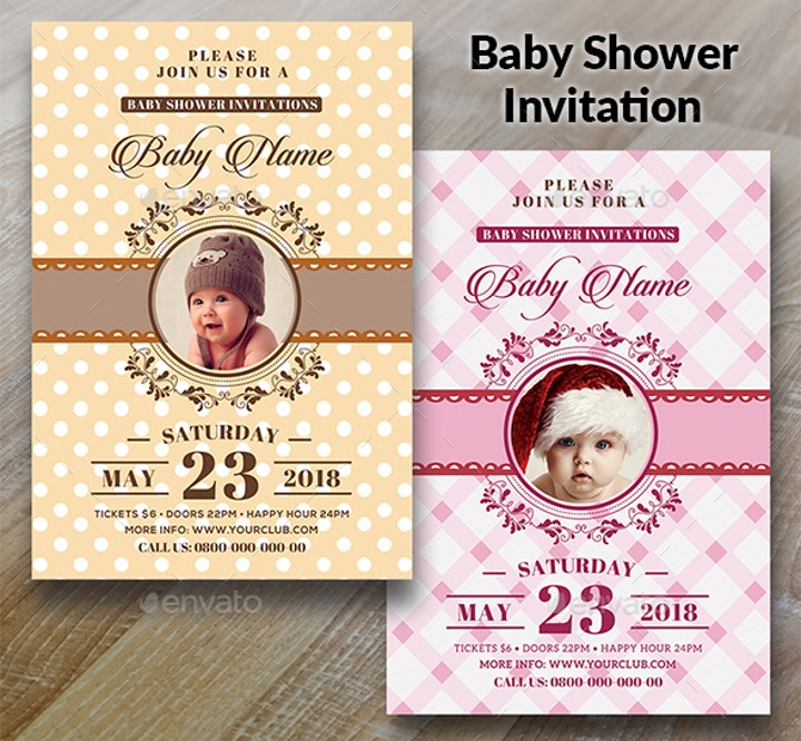 baby shower card invitation