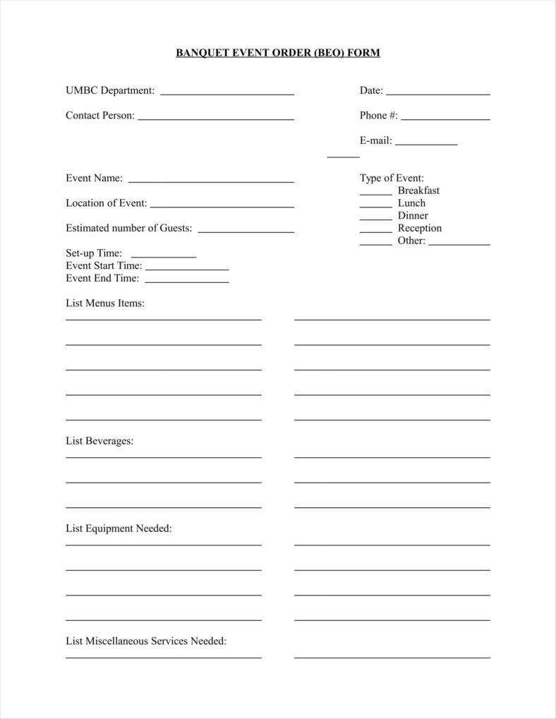 banquet event order document free download1 11 788x1019