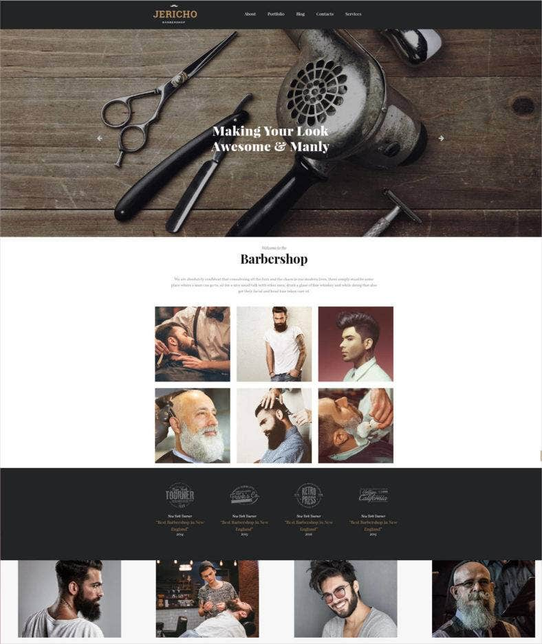 barbershop responsive website template 788x937