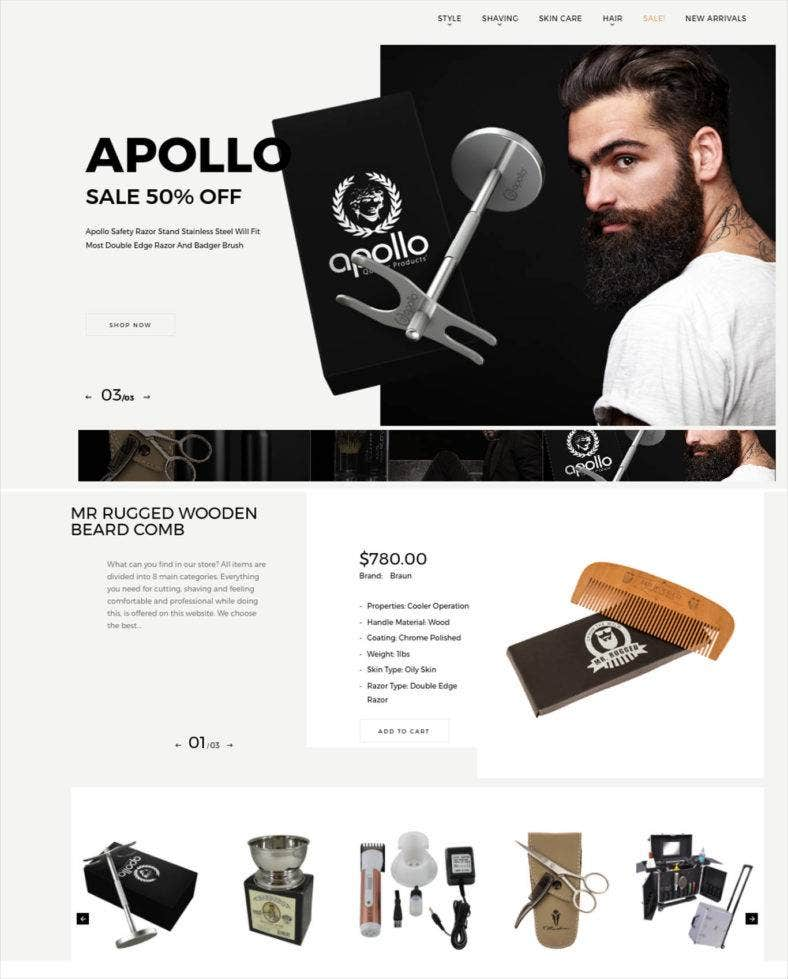 barbershop website template 788x979