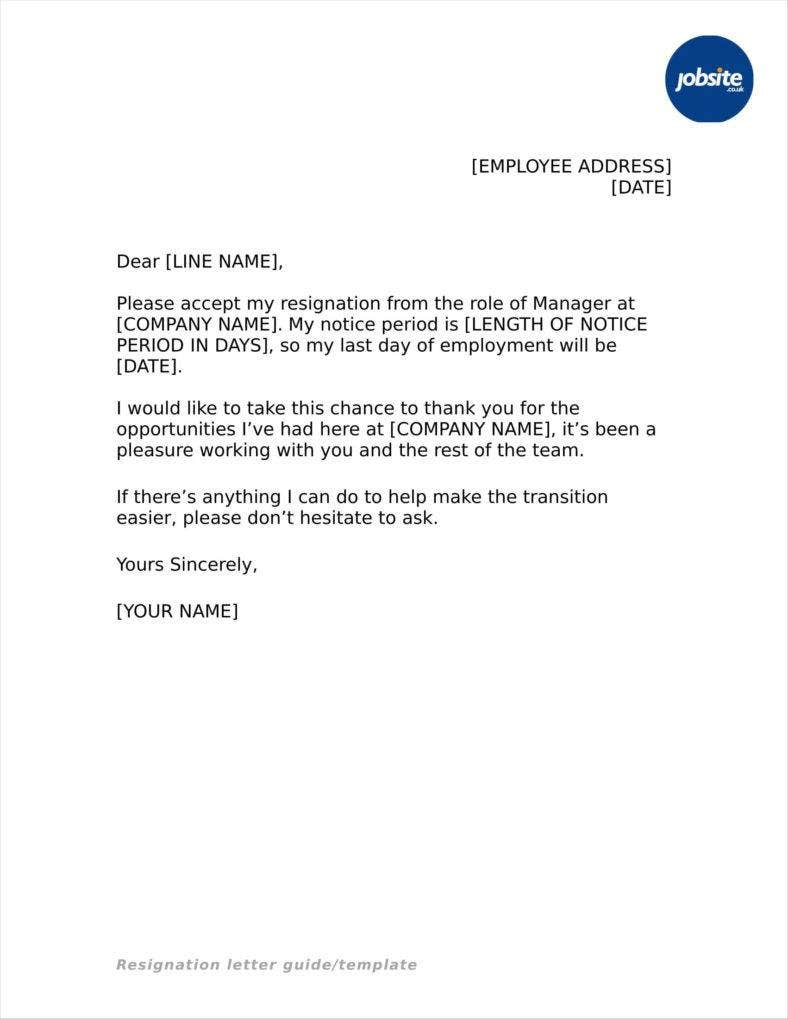 basic resignation letter 33 simple resign letter templates free word pdf excel 5761