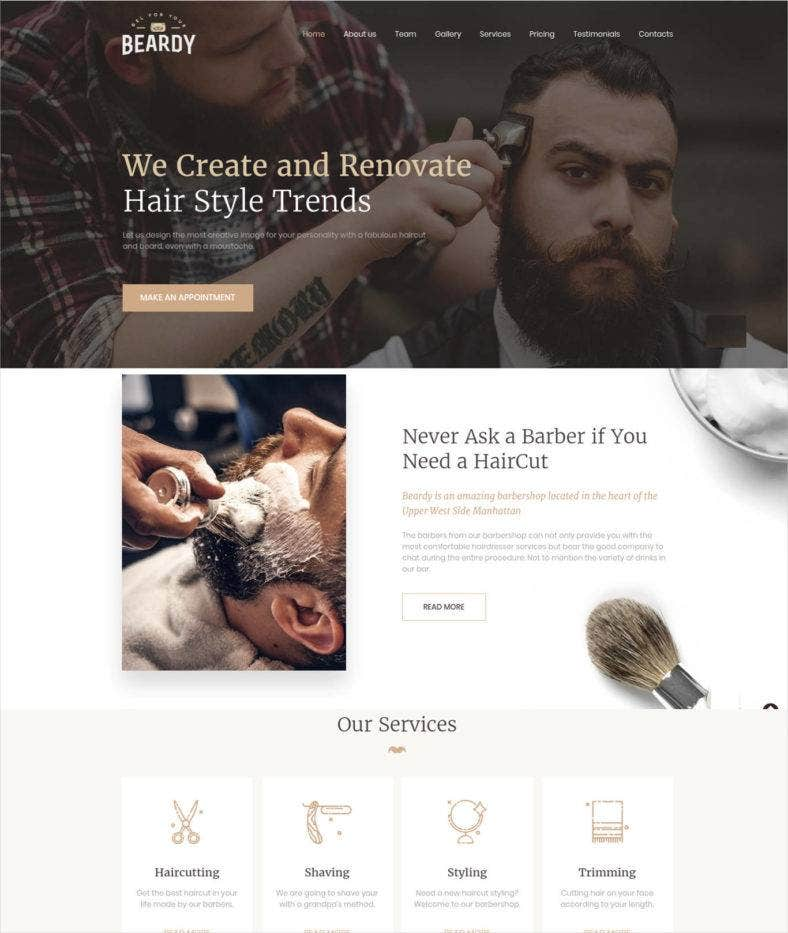 beardy responsive website template 788x933