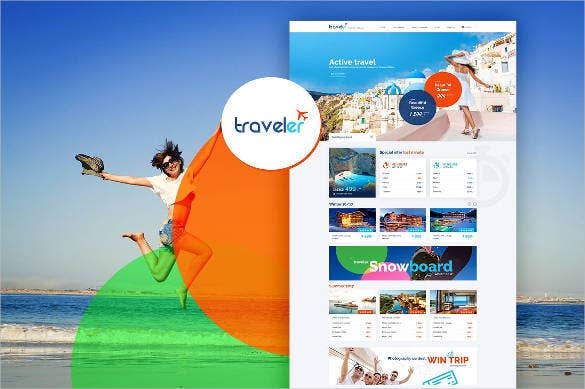 beautiful travel agency design