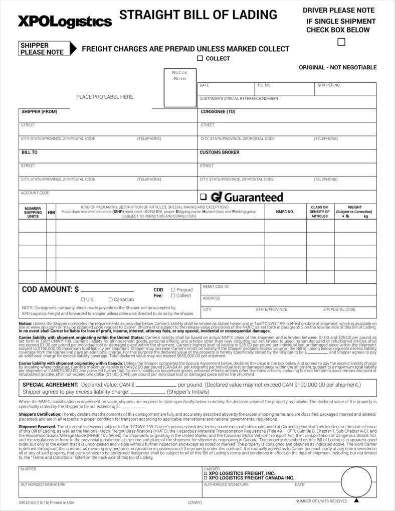 bill of lading form 11 788x1019