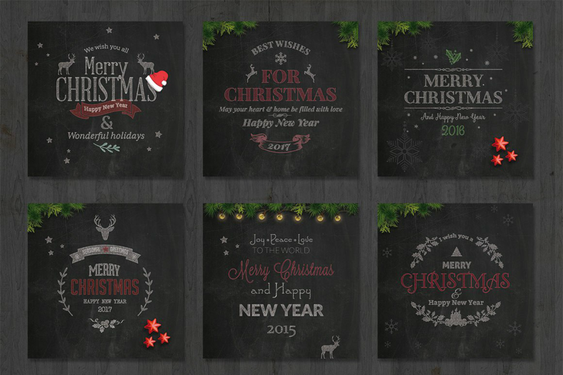 black-holiday-card-templates
