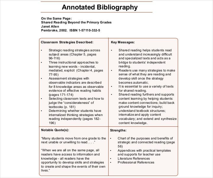 blank combination annotated bibliography template pdf