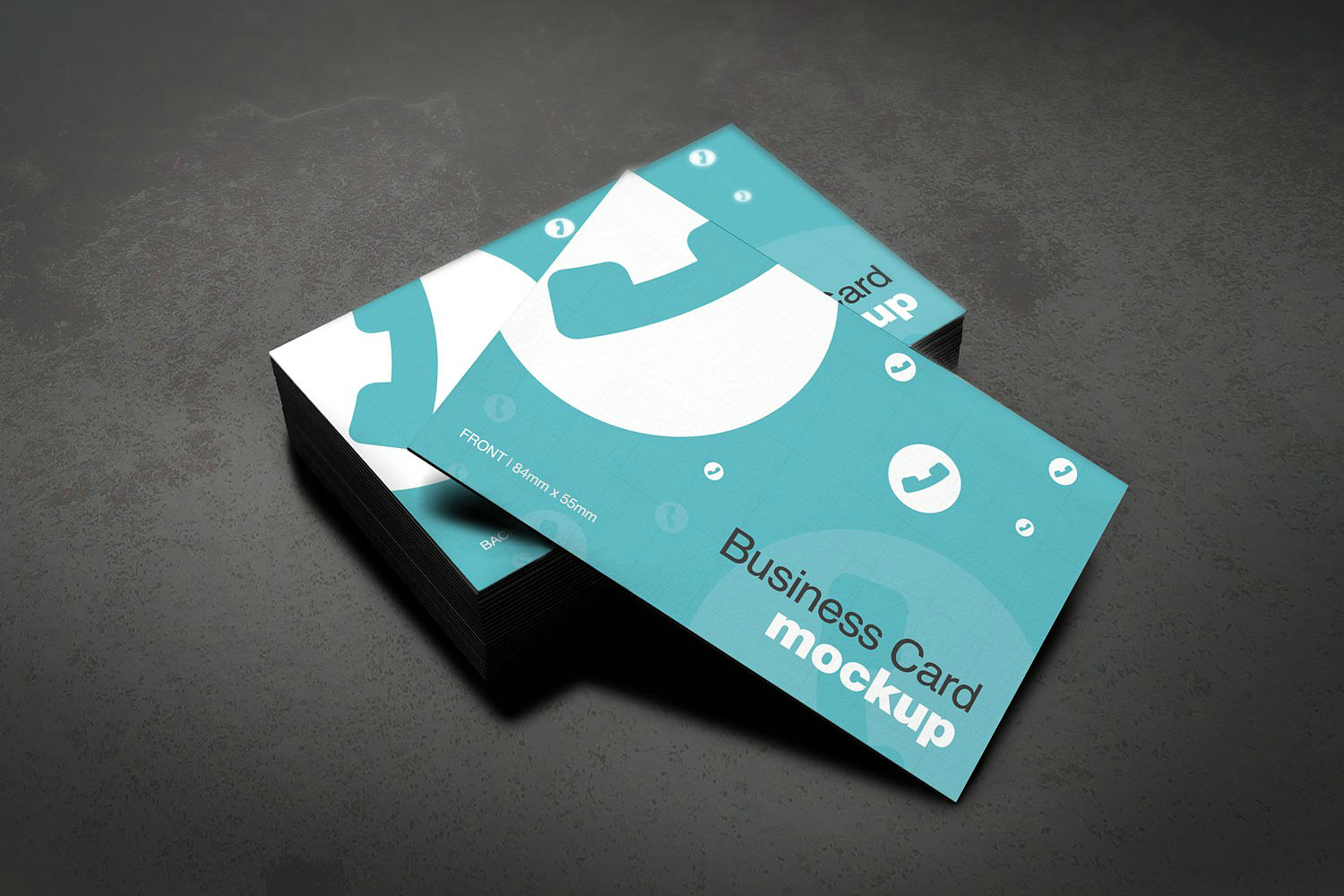 blue business card printable