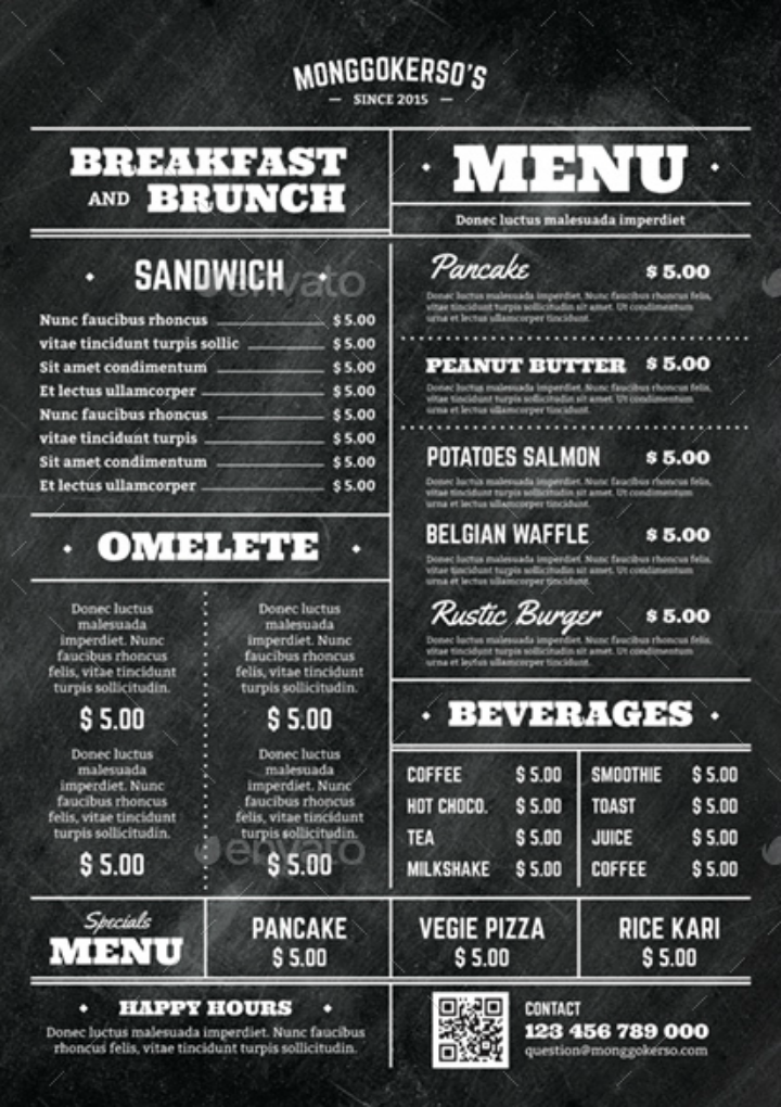 14 elegant brunch menu templates psd ai free premium templates