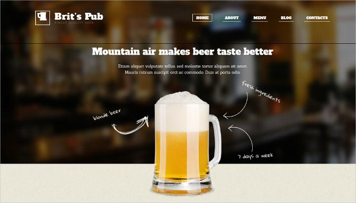 Brewery Pub WordPress Theme