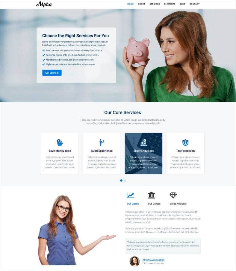 business consulting and financial services html template 788x902