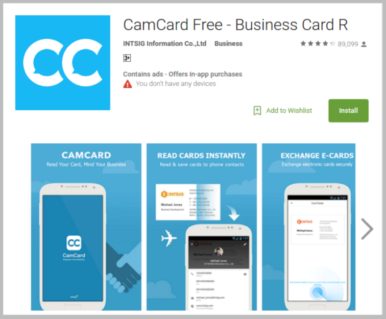Best business card design apps free premium templates camcard free business card maker app reheart Images