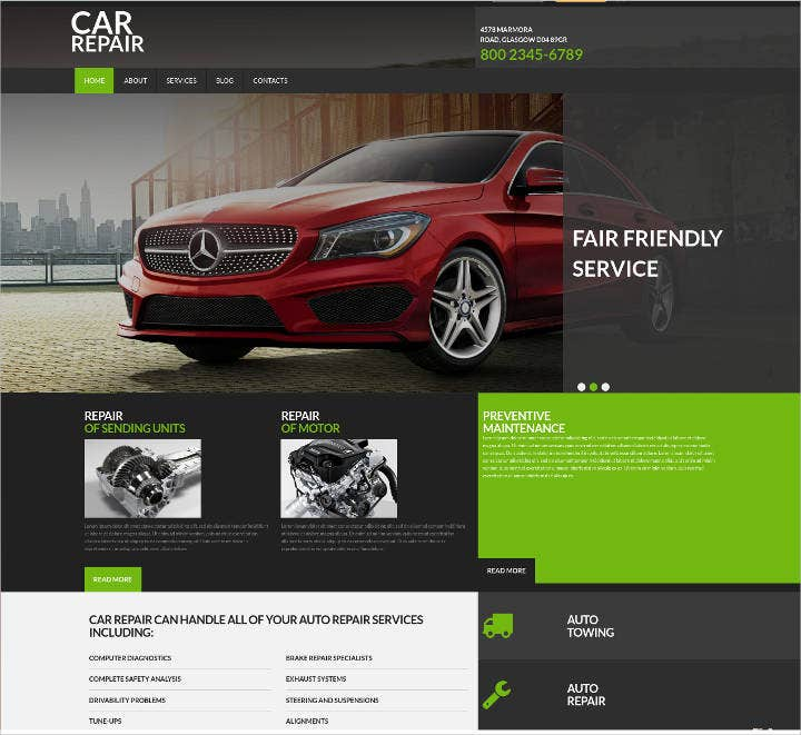 car repairs site design
