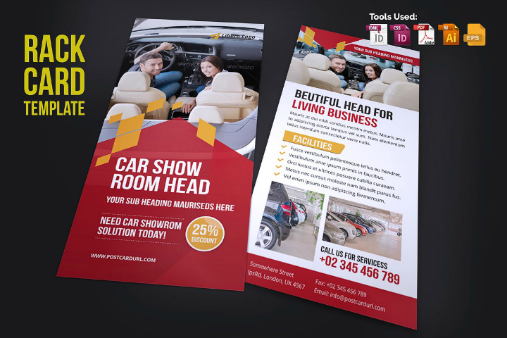 car-show-in-design-rack-card-template