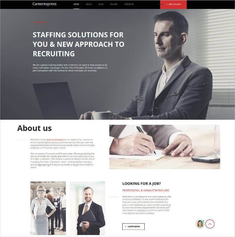 career express html website theme 788x794