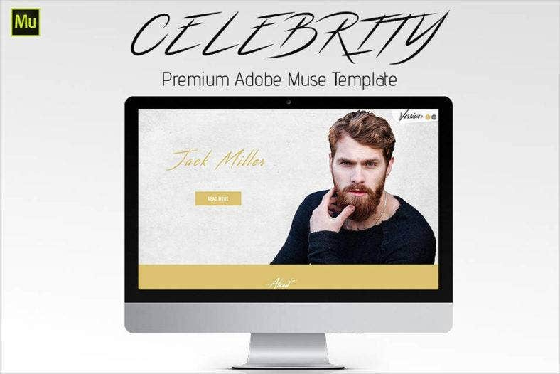 celebrity muse website template 788x526