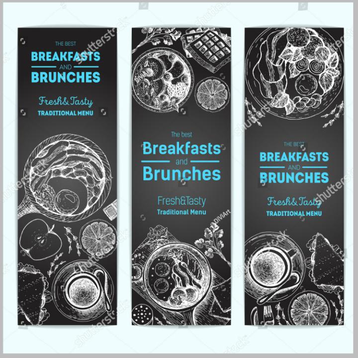 chalkboard brunch menu template