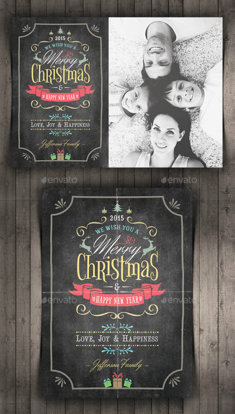chalkboard-holiday-card-template