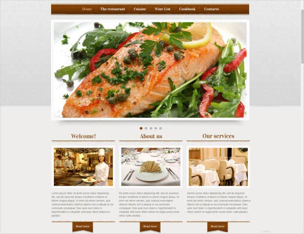 classic restaurant website template
