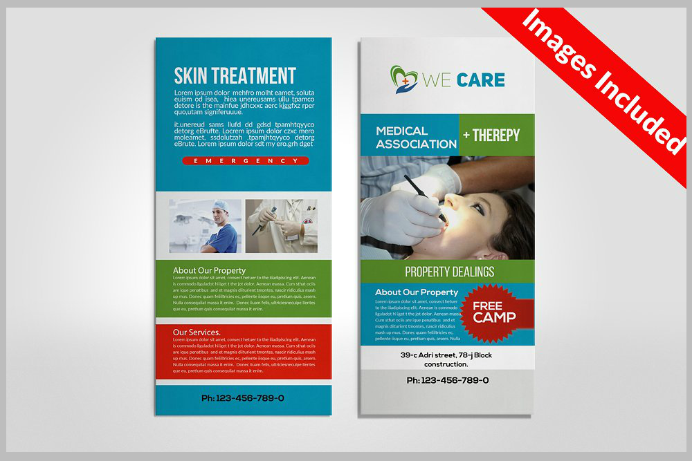 clinic-rack-card-template
