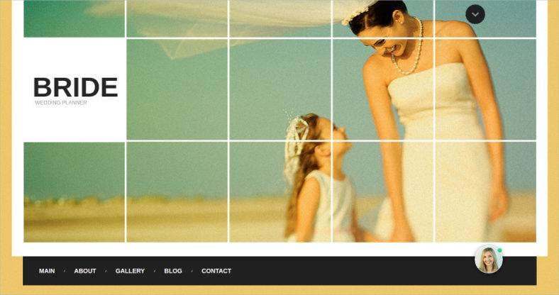 colorful wedding planner website template 788x416