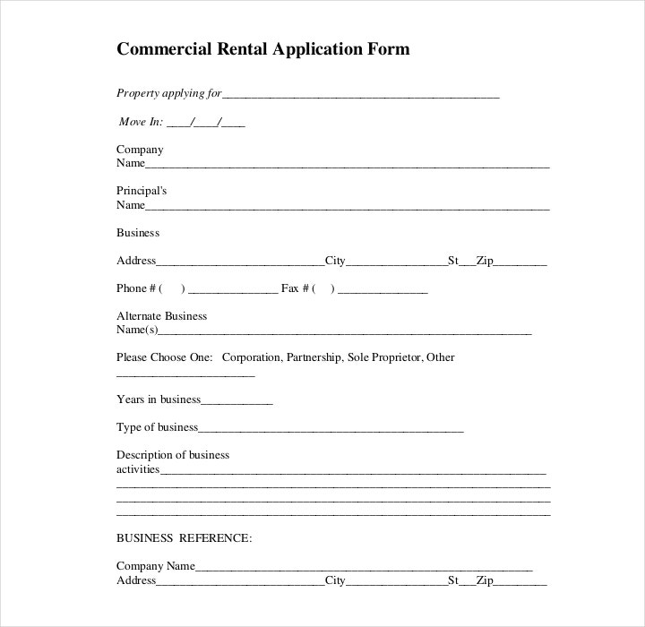 30+ Lease Application Form Templates | Free & Premium Templates